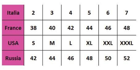 JADEA - Таблица размеров
