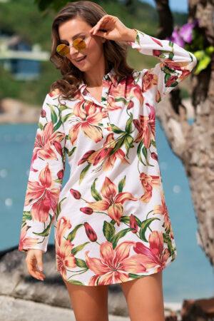 Пляжная туника для женщин 1449 Рубашка пляжная Доминикана Mia Amore