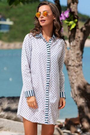 Платье-туника 1442 Рубашка пляжная Доминикана Mia Amore