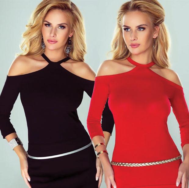 Все женские блузки, в том числе блузки с открытыми плечами в интернет магазине RedMega.ru