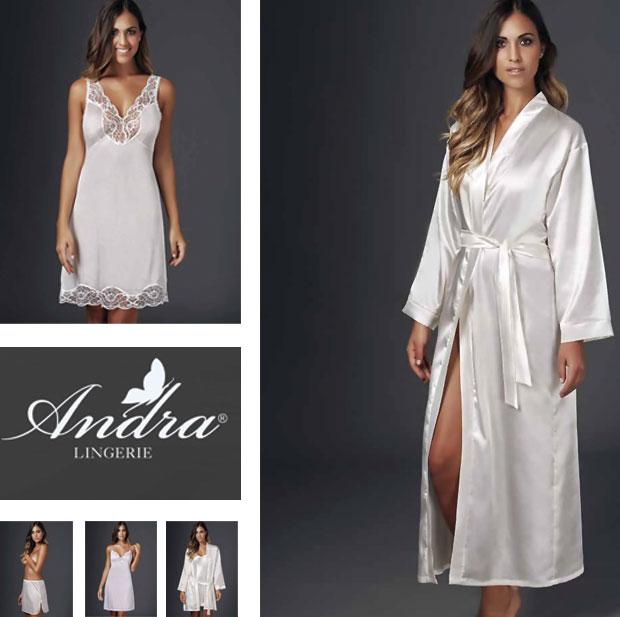 Вся домашняя одежда и предпастельное белье в том числе Andra Lingerie