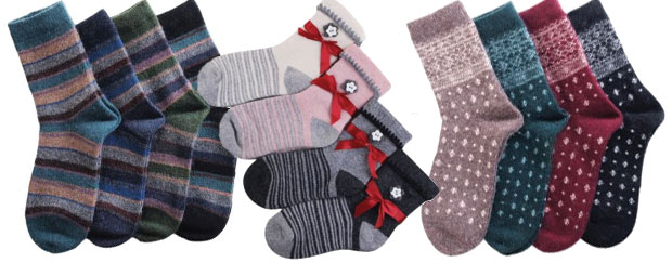 Женские теплые носки с шерстью и пухом в интернет-магазине RedMega.ru